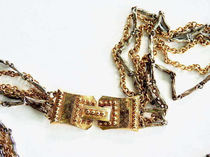 Celebrity Gold and Silver Tone Multi Chain Necklace by LegendaryBeast