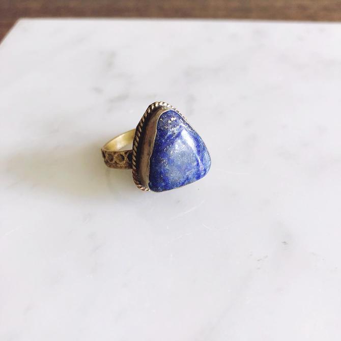 Vintage Afghan Lapis Lazuli Ring by TheDistilleryVintage