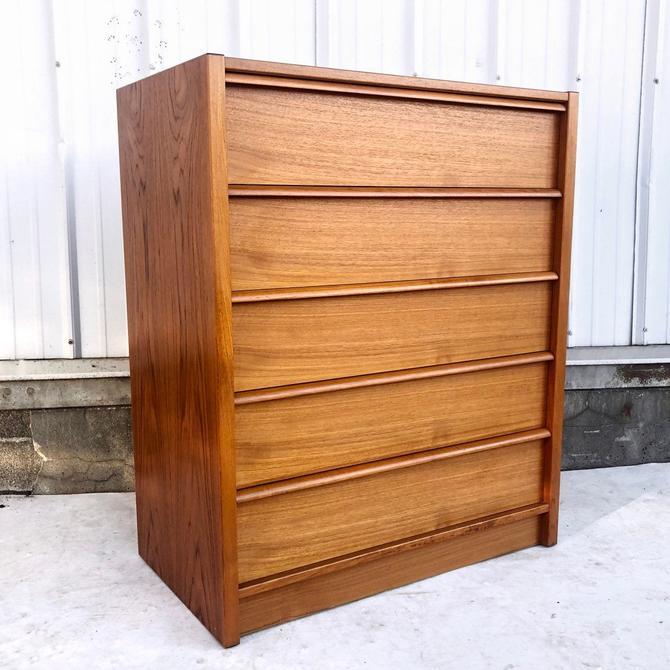 Danish Modern Teak Highboy Dresser by Feldballes Moblefabrik by secondhandstory