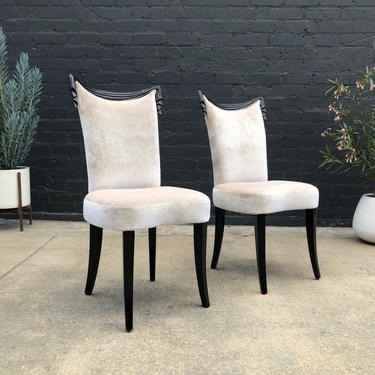 Mid-Century Modern Grosfeld House Draped Side Chairs, c.1950's by VintageSupplyLA