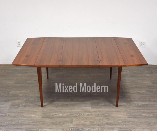 Walnut & Rosewood Drop Leaf Dining Table by Kipp Stewart by mixedmodern1