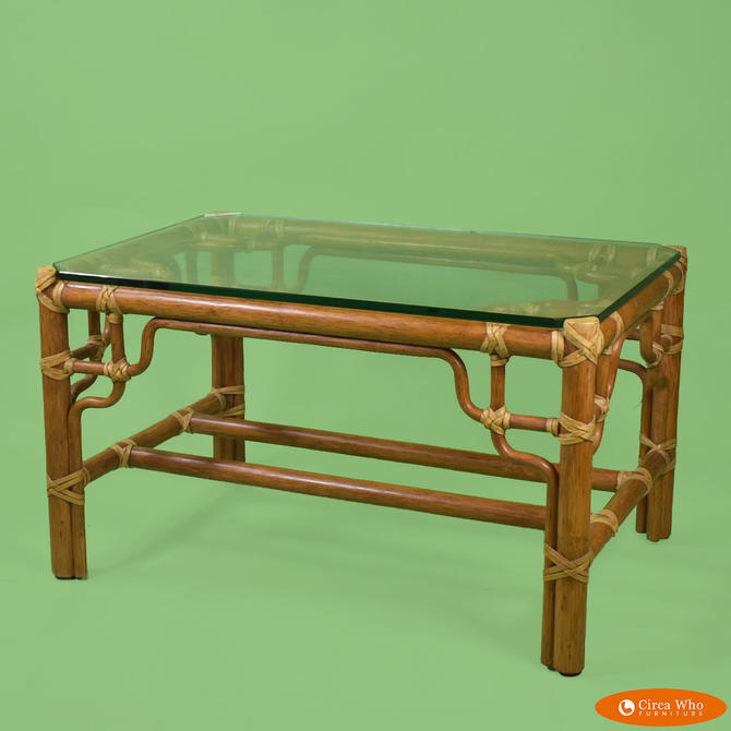 McGuire Fretwork Coffee Table