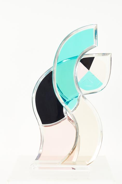 Mid Century Colorful Lucite Abstract Sculpture - mcm by ModernHill