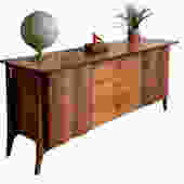 Extra LONG Mid Century MODERN Walnut CREDENZA / Triple Dresser in the style of Edmund Spence by CIRCA60