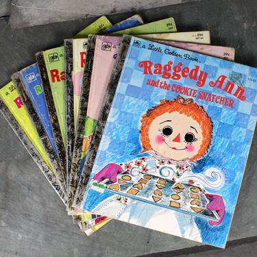 Raggedy Ann Little Golden Books - Set of Vintage Little Golden Books from the 1970s | FREE SHIPPING by Bixley