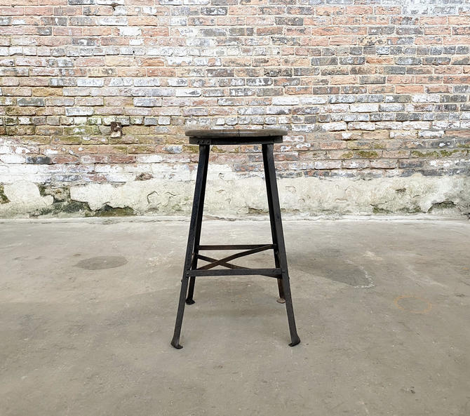 Industrial Angle Steel Stool Co. Vintage Restaurant Seating by NorthGroveAntiques