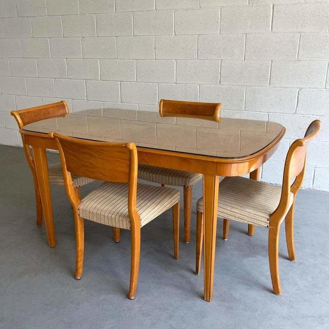 Biedermeier Style Satinwood Extension Dining Set