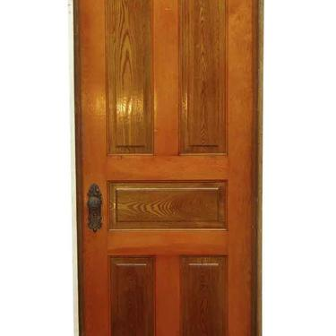 Antique Yellow Pine 5 Pane Frame Passage Door 82 x 31