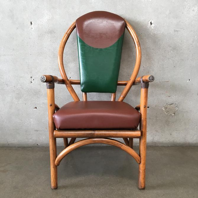 Vintage Bentwood Bamboo Color Block Armchair