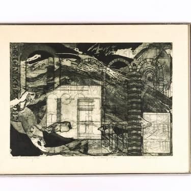 'MICHELE: FLOOD MEMORY AFFAIR' LITHOGRAPH BY JO ANNE PASCHALL (NUMBER 4 OF 20)