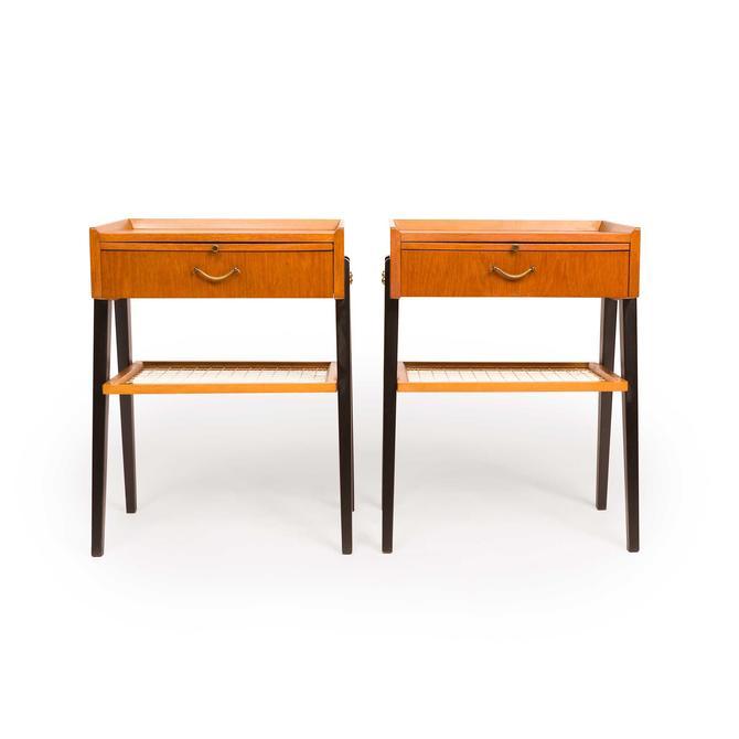 Vintage 1960s Danish Mid Century Teak Nightstands /Bedside Tables (Pair) by MCMSanFrancisco