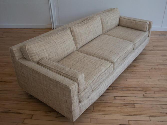 Harvey Probber Tweed Three Seat Sofa