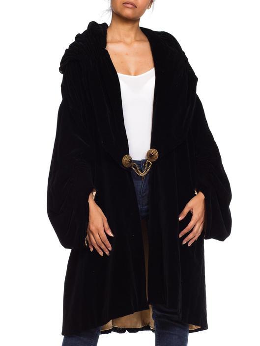 1920S Cotton Velvet Poiret Inspired Overzised Medieval Coat by SHOPMORPHEW