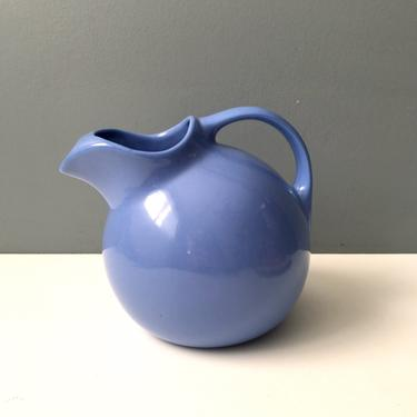 Hall pottery ball pitcher with ice lip #633 - cadet blue - vintage pottery by NextStageVintage