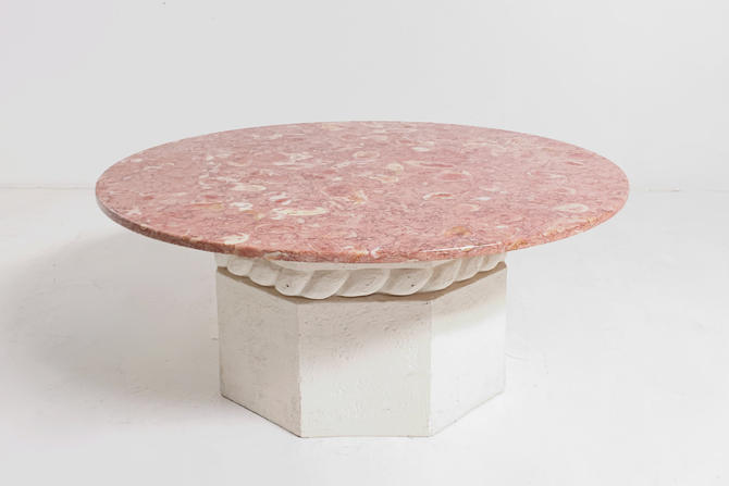 Pink Marble Coffee Table by BetsuStudio