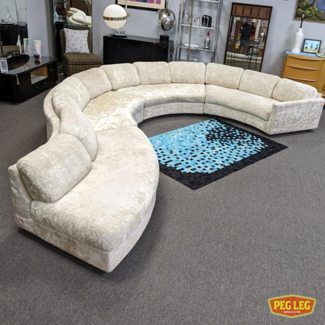 Mid-Century Modern serpentine sectional sofa by Adrian Pearsall