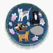 Round Rescue Cat Pot Holder
