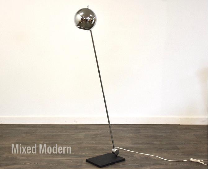 Chrome Eye Adjustable Floor Lamp by mixedmodern1