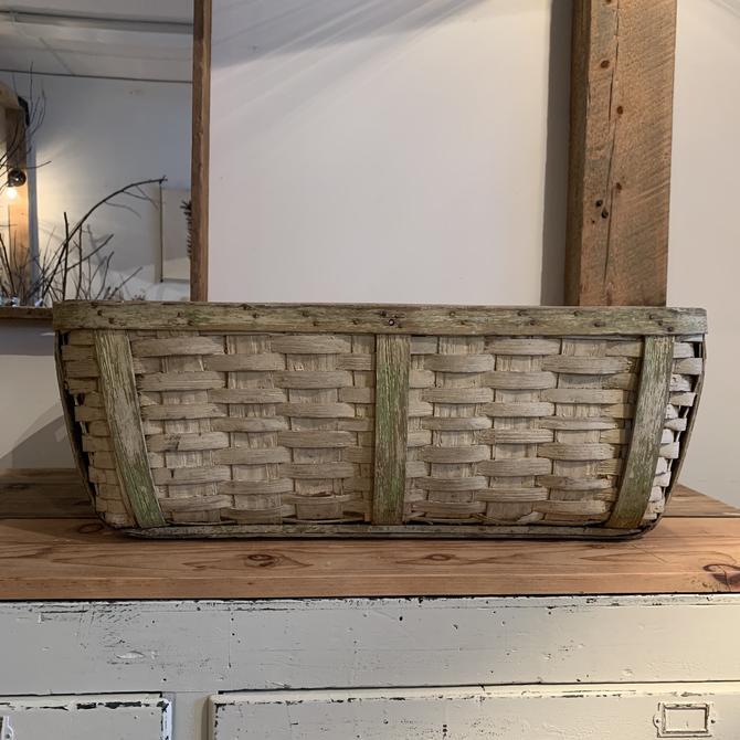 Vintage Painted Basket