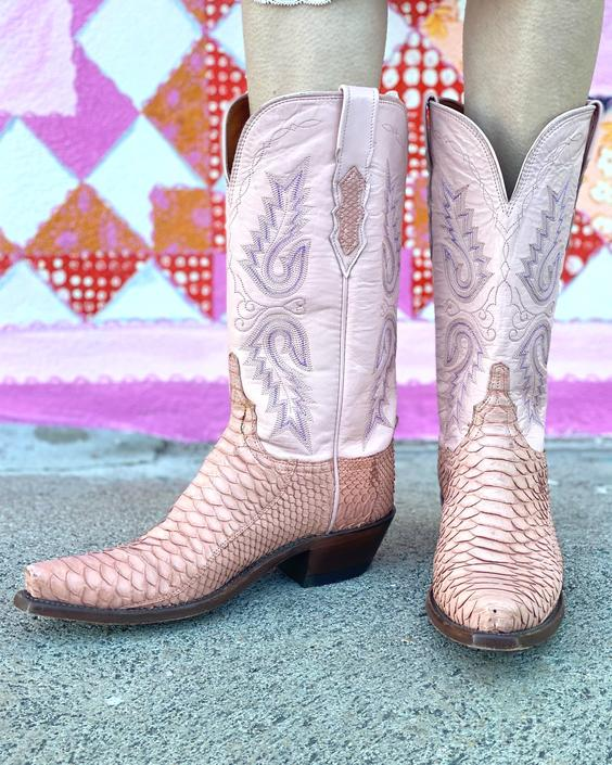 AS01 Baby Pink Dream Lucchesse Cowgirl Boots