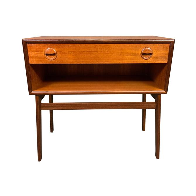 Vintage Danish Mid Century Modern Teak Entry Chest - Side Table by AymerickModern