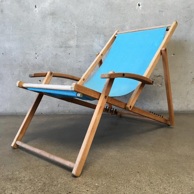 Vintage Wood Lounge Chair