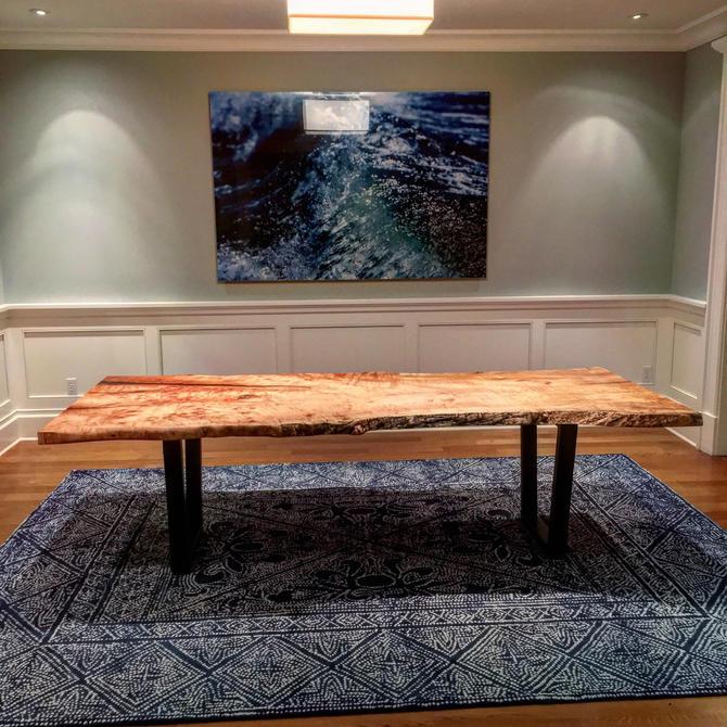 Live Edge Single Slab Maple Dining Table by Kristopher Kirkpatrick by KirkpatrickDesigns
