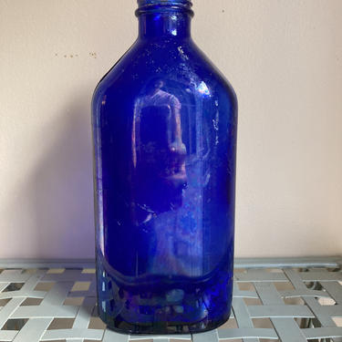 Cobalt Blue Vintage Glass Bottle Genuine Philips Apothecary Bottle by RavenPearVintage