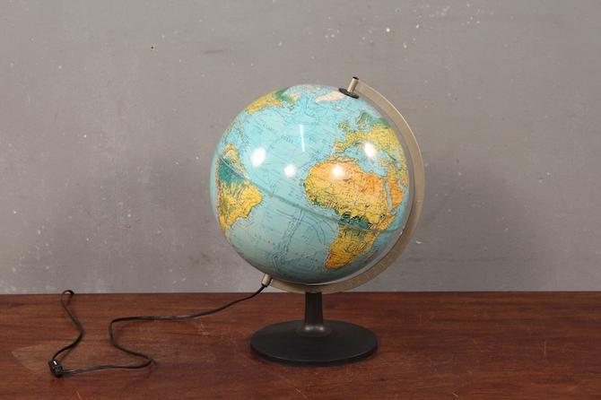 1980s Danish Illuminated Globe