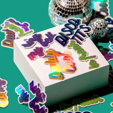 DISCO STICKERS by LivingColorfullyShop