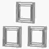 Triple Square Wall Mirrors by Elements (Set of Three)