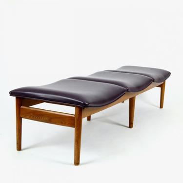 3-Seat Bench on Walnut Base