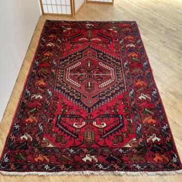 Vintage Persian Area Rug Hamadan Hamaden Wool Hand Knotted Oriental by 330Modern