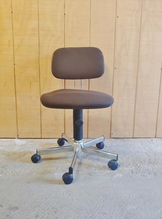 Mid Century Modern Rolling Adjustable Office Desk Chair Made in Italy by ModandOzzie