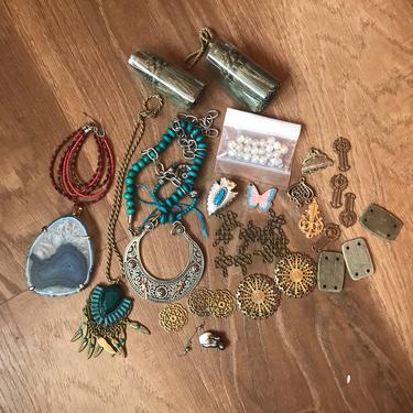 Boho jewelry making supplies vintage findings filgrees charms boho jewelry making supplies vintage findings filgrees charms large pendants destash aloadofball Gallery