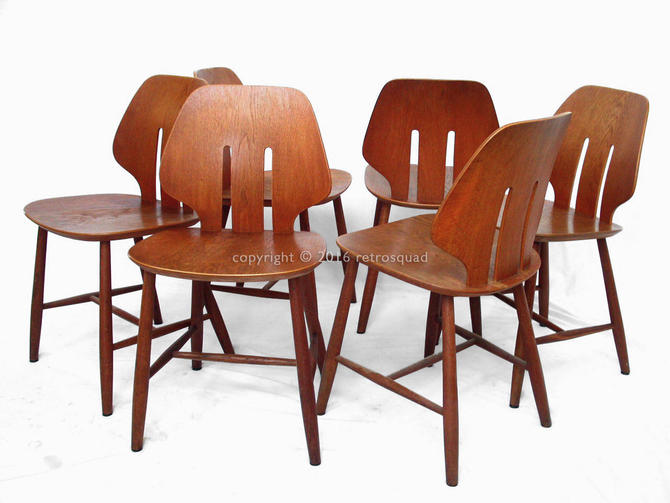 6 Danish Modern Dining Chairs by Ejvind A. Johansson for FDB, Mogensen Wagner