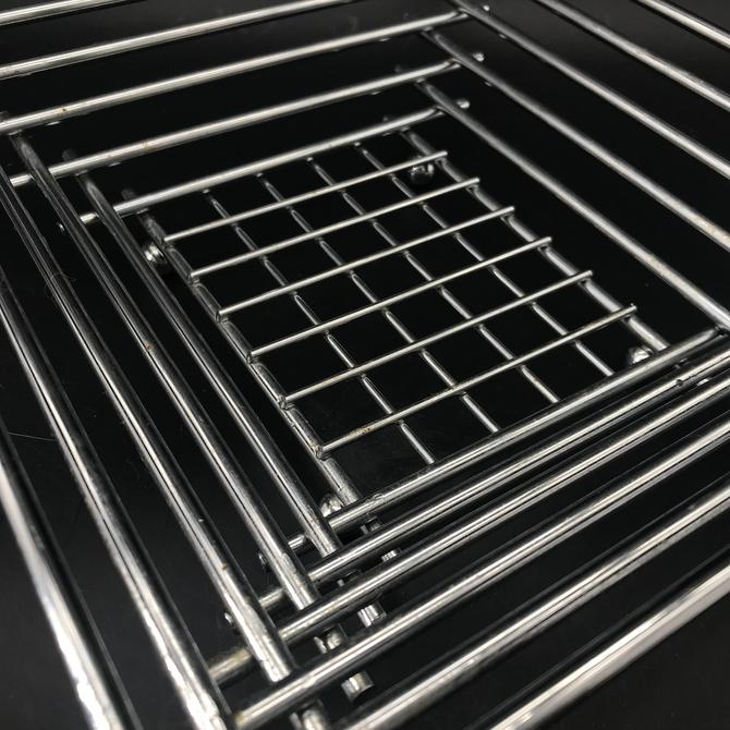 Vintage Memphis style Stacked Chrome Steel Basket