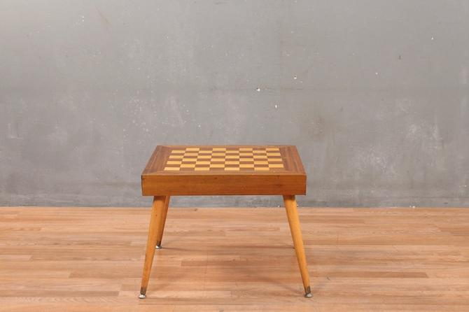 Mid Century Chess End Table