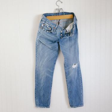 vtg distressed levis 501 taper fit - 30 32 waist by foganddriftwood