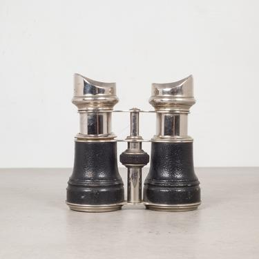 19th c. Leather Wrapped Sportier Paris Binoculars c.1880