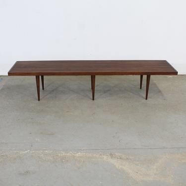 Mid-Century Modern Mel Smilow Elongated Walnut Slat Bench End/Coffee Table by AnnexMarketplace