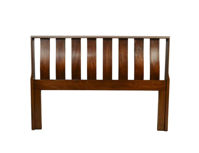 Walnut Headboard Lane Furniture Mid Century Modern by HearthsideHome