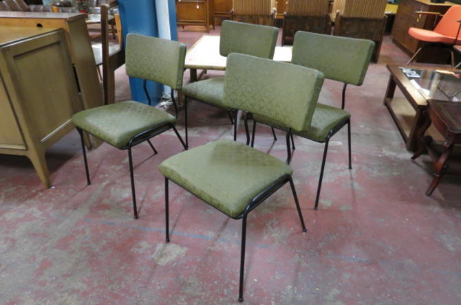 Vintage Mid century modern set of 4 dining chairs
