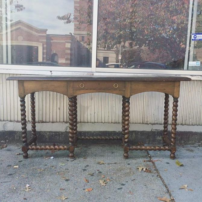 Sold Barley Twist Sofa Console Table