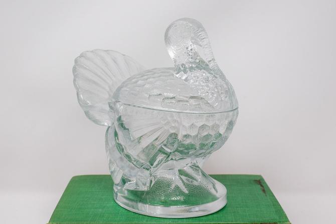 Vintage Glass Turkey Dish by CapitolVintageCharm