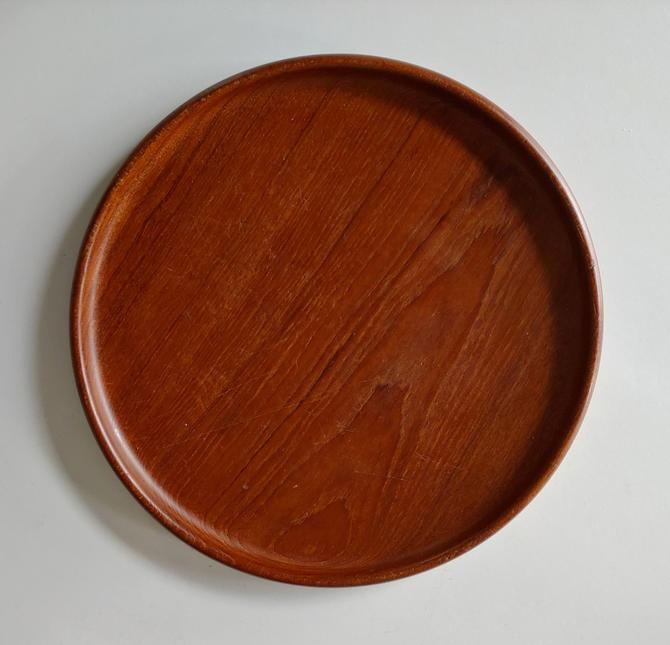 Danish Modern Teak Plate Platter by Kay Bojesen c. 1950's by ModandOzzie