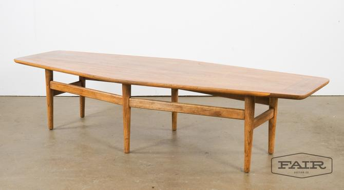 Vintage Walnut Modern Coffee Table