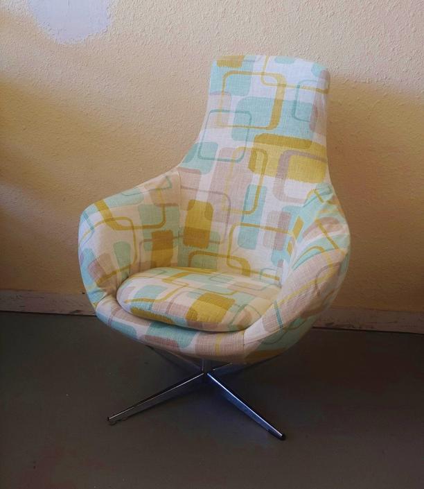 Vintage Modern Overman High Back Pod Chair New Slipcover by ModandOzzie