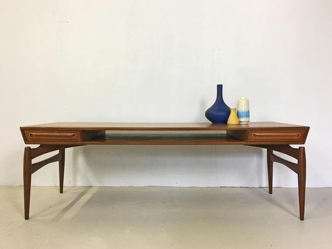 Danish Modern Teak Coffee Table by Johannes Andersen by retrocraftdesign