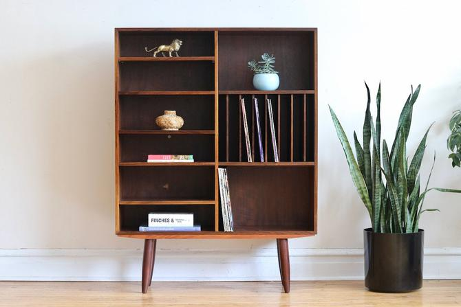 Mid Century Danish Modern Rosewood Record Shelf by SharkGravy
